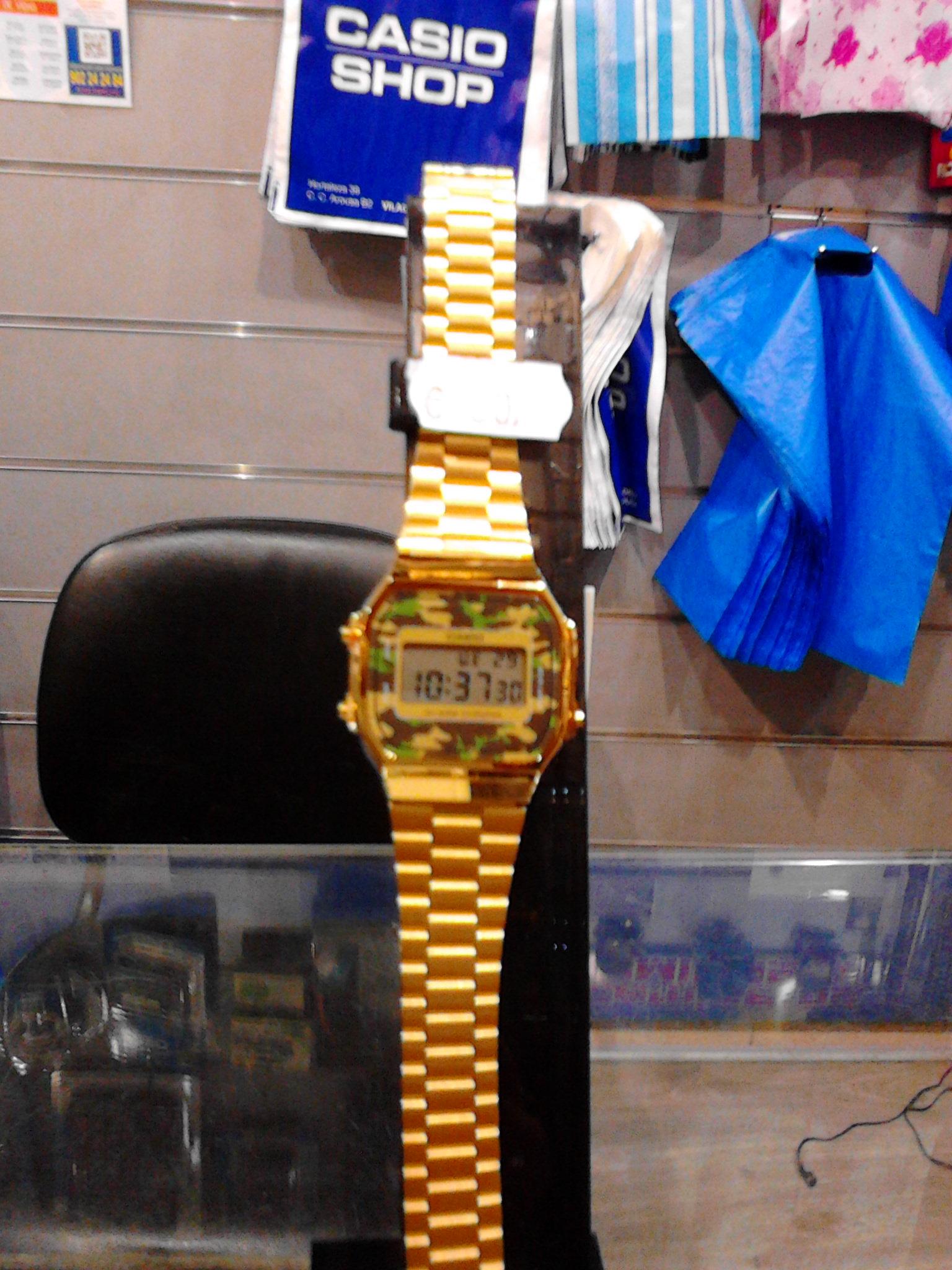 b2dd91ceea90 Nuevo modelo Casio Vintage dorado A168WEGC-3EF